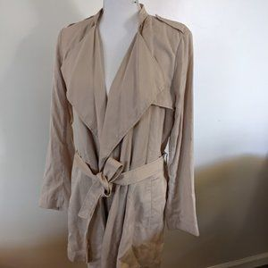 H&M Beige  Trench Coat,  Size 8